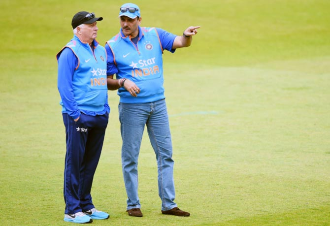Rediff Cricket - Indian cricket - Shastri, Fletcher should stay till 2015 World Cup, says Laxman