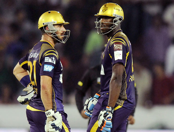 Rediff Cricket - Indian cricket - Russell, ten Doeschate power KKR to stunning victory over Chennai