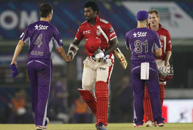 Rediff Cricket - Indian cricket - CLT20: Maxwell, Perera help Kings XI start on a winning note