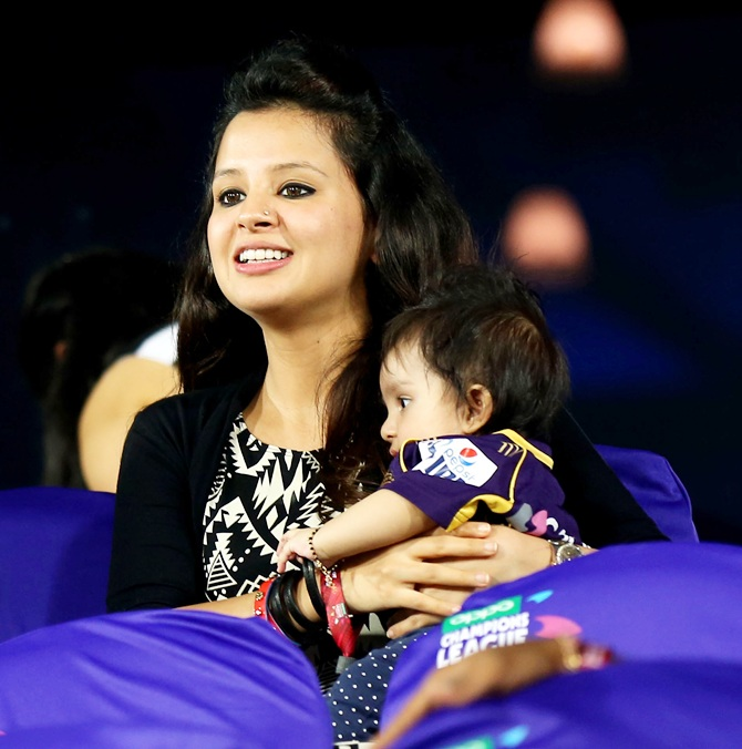 Rediff Cricket - Indian cricket - PIX: Cricketers, their gorgeous wives and kids at CLT20