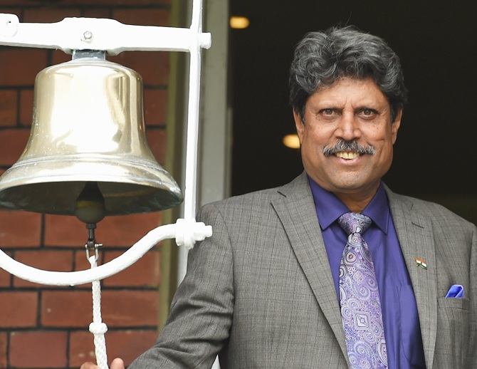 Rediff Sports - Cricket, Indian hockey, Tennis, Football, Chess, Golf - Kapil Dev backs demonetisation, terms it 'bold step'