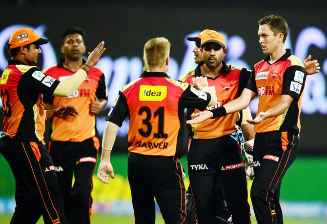 Rediff Cricket - Indian cricket - All-round performance has Hyderabad captain Warner beaming