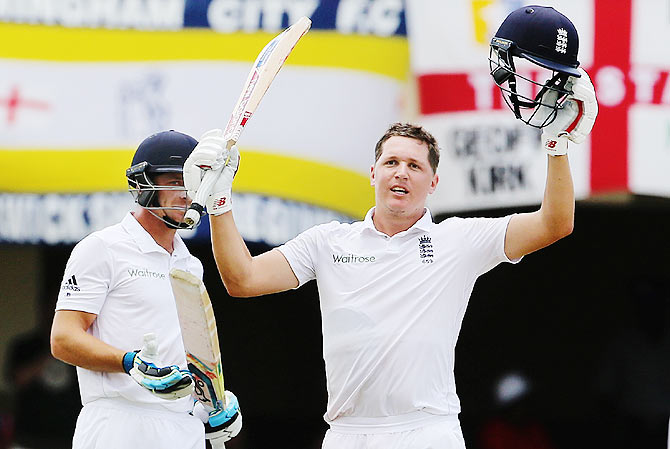 Rediff Cricket - Indian cricket - PHOTOS, First Test: Ballance strikes ton; special moment awaits Anderson