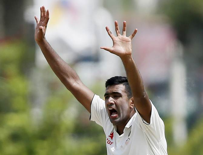 Rediff Sports - Cricket, Indian hockey, Tennis, Football, Chess, Golf - Stats: Ashwin wins the numbers game on Day 1 in Galle