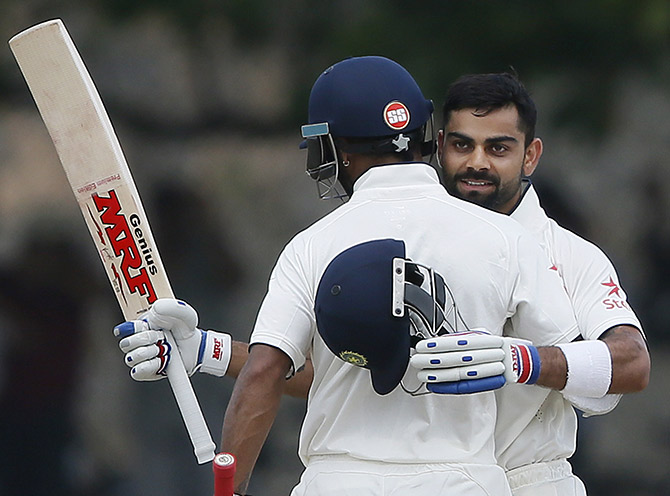 Rediff Sports - Cricket, Indian hockey, Tennis, Football, Chess, Golf - Stats: Records galore for Kohli, Dhawan on Day 2 in Galle