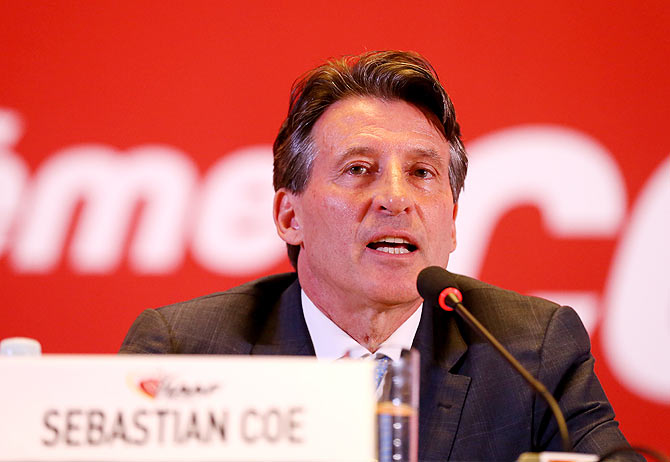 IAAF chief Lord Sebastian Coe
