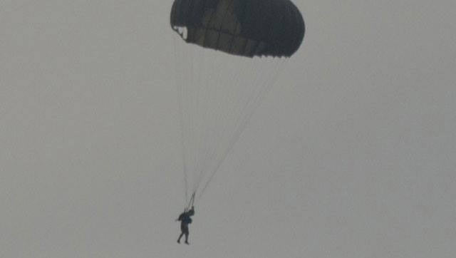 Mahendra Singh Dhoni completed his first parachute jump from an Indian Air Force aircraft on Wednesday