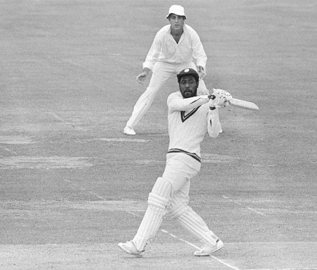 Viv Richards bats during the 1979 World Cup final