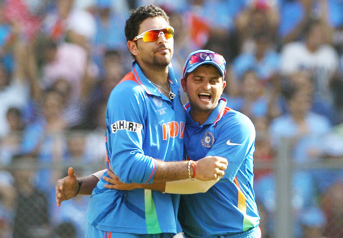 Rediff Cricket - Indian cricket - Yuvraj, Raina failed 'Yo-Yo' endurance test at the NCA
