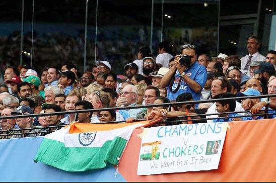 Rediff Cricket - Indian cricket - World Cup PHOTOS: India fans swarm MCG on Super Sunday!