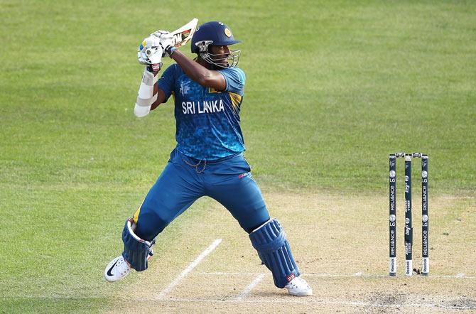 Rediff Cricket - Indian cricket - PHOTOS: Sri Lanka scrape past Afghanistan after Mahela ton