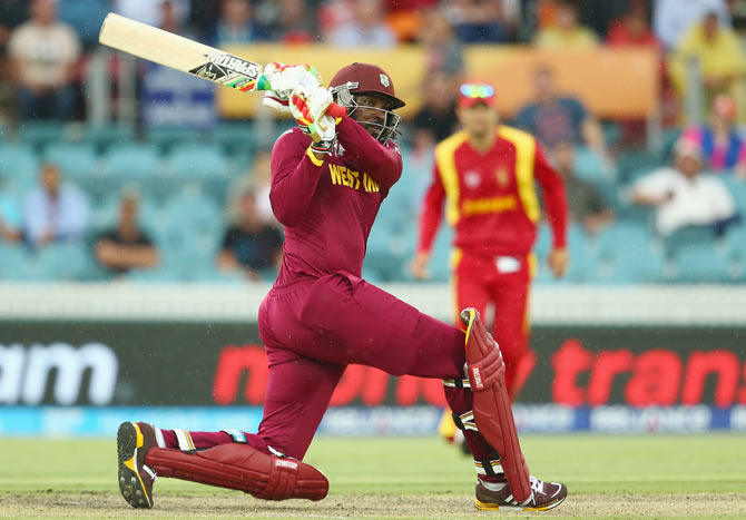 Rediff Cricket - Indian cricket - India ready to attack Gayle with short-pitched deliveries!