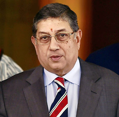 Srinivasan apologises to Supreme Court, says won't preside over March 2 AGM