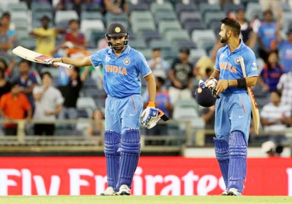 Indian players Virat Kohli and Rohit Sharma