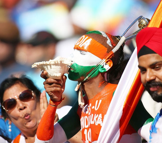 Indian fans show their support