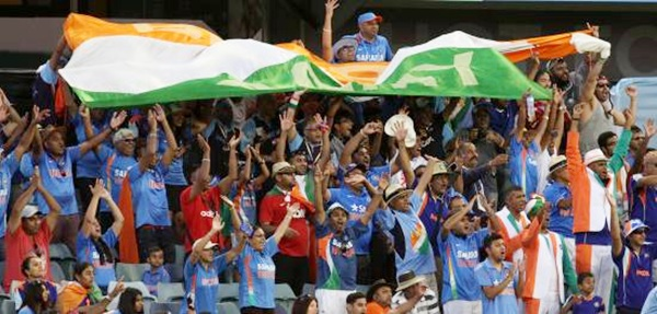 Indian fans during the ICC World Cup match played between India and United Arab   Emirates at the WACA stadium in Perth