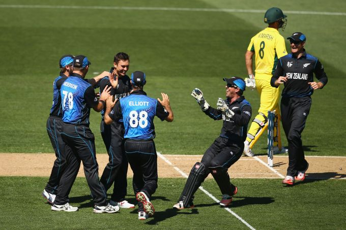 Rediff Cricket - Indian cricket - PHOTOS: New Zealand sneak past Australia in a thriller