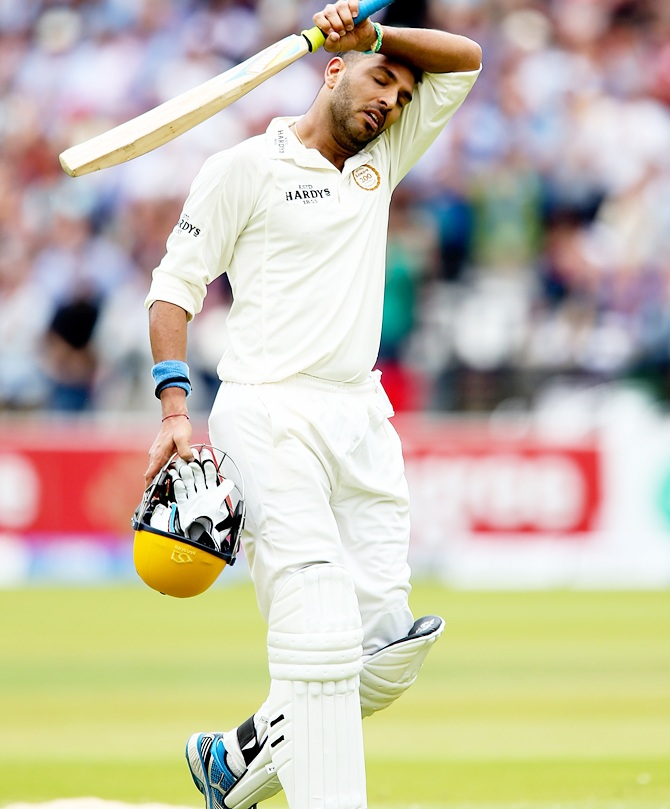Rediff Sports - Cricket, Indian hockey, Tennis, Football, Chess, Golf - Ignored Yuvraj Singh finds place in MCC squad