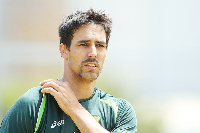 Rediff Cricket - Indian cricket - Tri-series: Johnson's return to spur Aus against inconsistent England