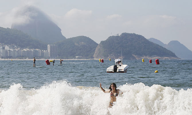 Rediff Sports - Cricket, Indian hockey, Tennis, Football, Chess, Golf - Olympic sailors, rowers shrug off reports of Rio's polluted waters
