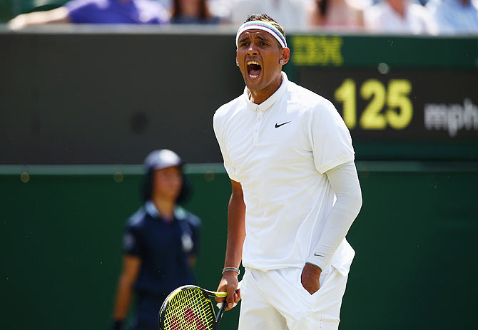 Nick Kyrgios has long said that he would not try to stifle his on-court emotions as he thinks it makes him a better player