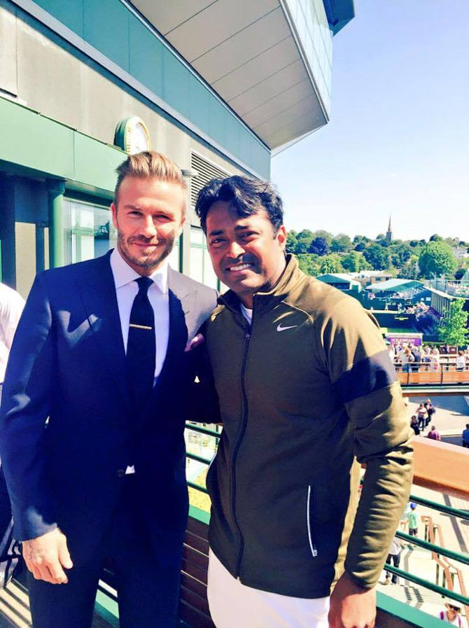 Wimbledon: Look who came to meet Leander Paes!