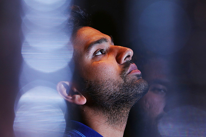 Rediff Cricket - Indian cricket - I am in a tricky position regarding my Test spot: Rohit Sharma