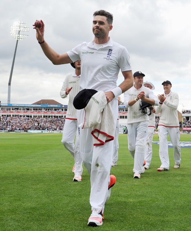 Rediff Sports - Cricket, Indian hockey, Tennis, Football, Chess, Golf - 3rd Ashes Test: Here is what spurred England's Day 1 hero Anderson