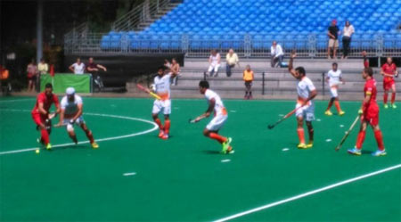 FIH practice match between India and Belgium