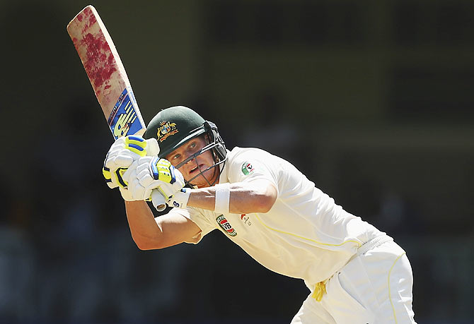 Rediff Cricket - Indian cricket - Warm-up: Ton-up Smith, Marsh put Australia in strong position
