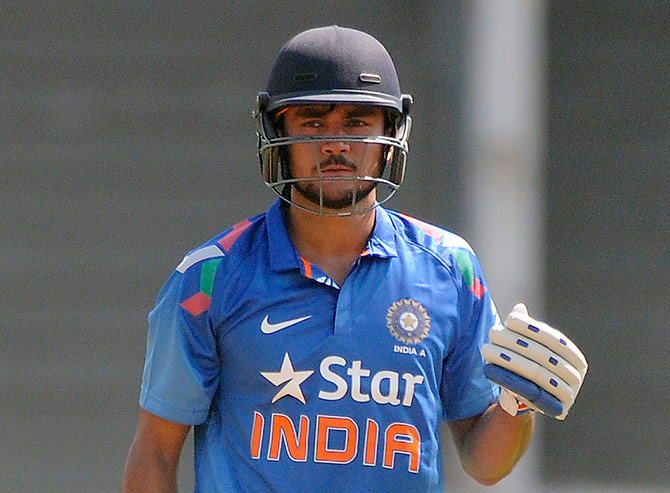 Rediff Cricket - Indian cricket - Yuvraj dropped; Pandey, Thakur return for ODI series against SL
