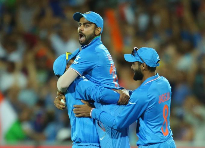 Virat Kohli during the 2015 ODI World Cup in Australia. Photograph: Scott Barbour/Getty Images