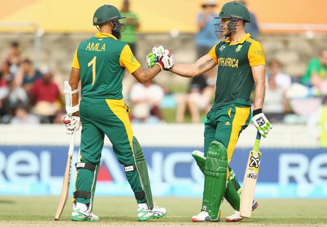 Rediff Sports - Cricket, Indian hockey, Tennis, Football, Chess, Golf - PHOTOS: Dominant South Africa hand Ireland a sound thrashing