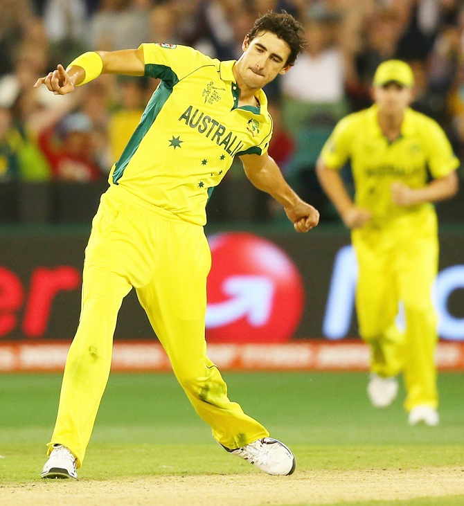 Rediff Sports - Cricket, Indian hockey, Tennis, Football, Chess, Golf - Starc, de Villiers 'most influential' players at World Cup