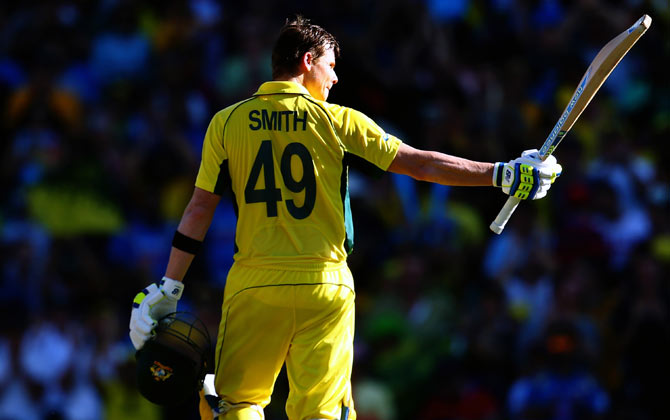 World Cup Photos Smith Stars As Australia Down India To Reach Final