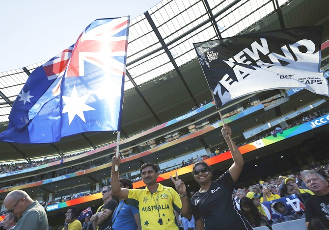Australia and New Zealand supporters at MCG