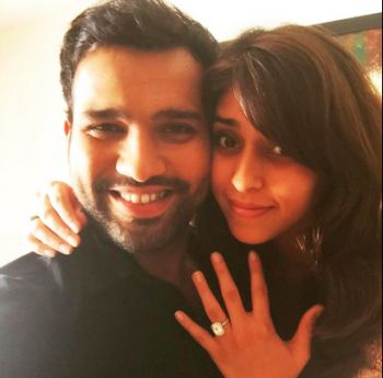 Rediff Cricket - Indian cricket - Rohit Sharma gets engaged to Ritika Sajdeh