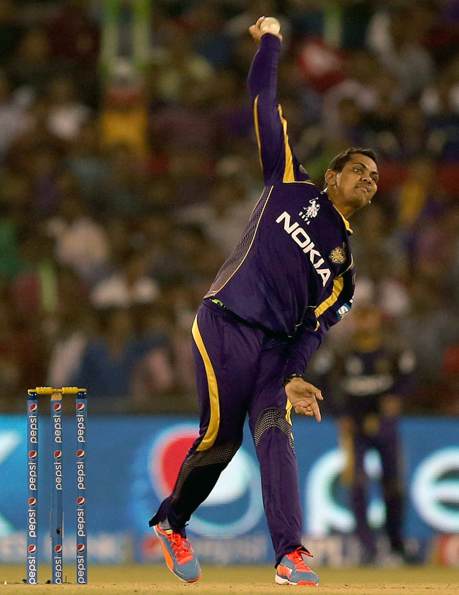 Rediff Sports - Cricket, Indian hockey, Tennis, Football, Chess, Golf - KKR unaffected by Narine's absence in IPL, says coach Bayliss