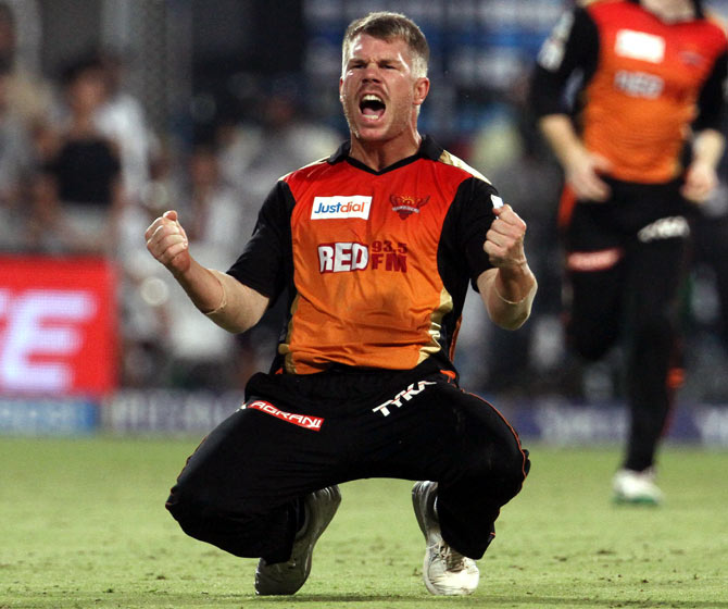 Rediff Cricket - Indian cricket - IPL 10: Inspirational Warner leads MVP rankings