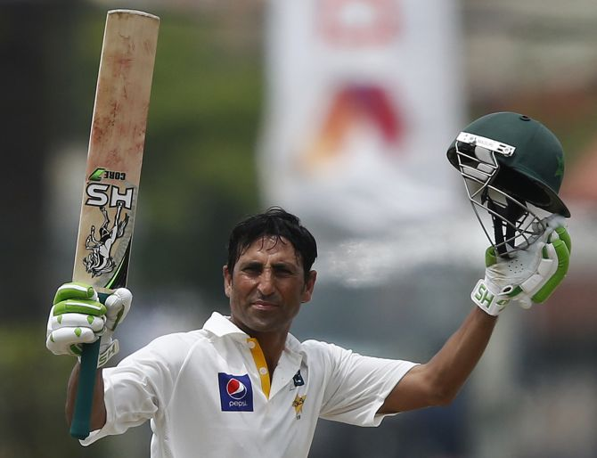 Rediff Sports - Cricket, Indian hockey, Tennis, Football, Chess, Golf - Younis, Azhar tons put Pakistan on course for big total