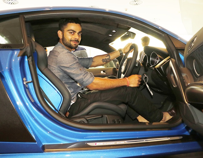 Photos Virat Kohli S Special Ride Gets Fast And Furious