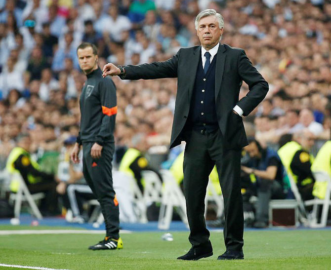 Rediff Sports - Cricket, Indian hockey, Tennis, Football, Chess, Golf - Ronaldo tweets his support to under-fire Real Madrid coach Ancelotti