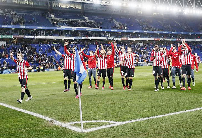 Rediff Sports - Cricket, Indian hockey, Tennis, Football, Chess, Golf - Proud Basques Bilbao eyeing King's Cup upset against Barca