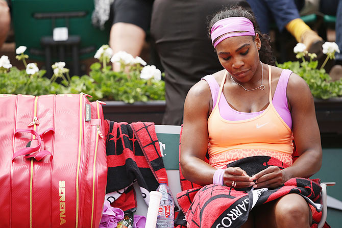 Rediff Sports - Cricket, Indian hockey, Tennis, Football, Chess, Golf - When a seed of doubt crept into 'unprofessional' Serena's mind