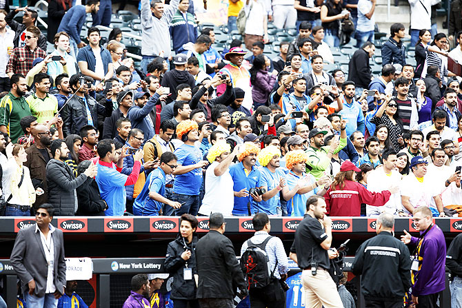 Fans came in huge numbers and cheered for their favourite cricketers