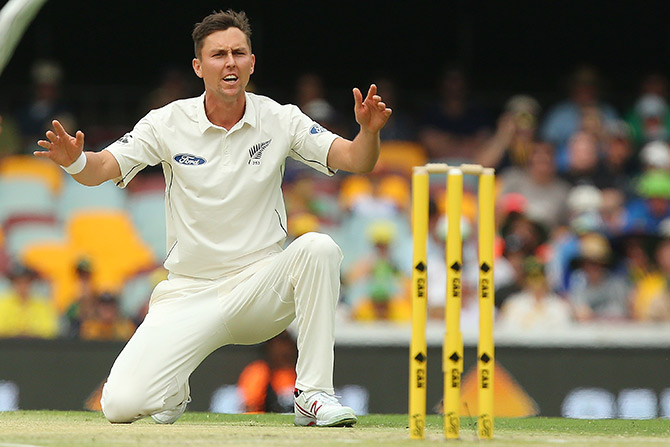Trent Boult of New Zealand unsuccessfully appeals