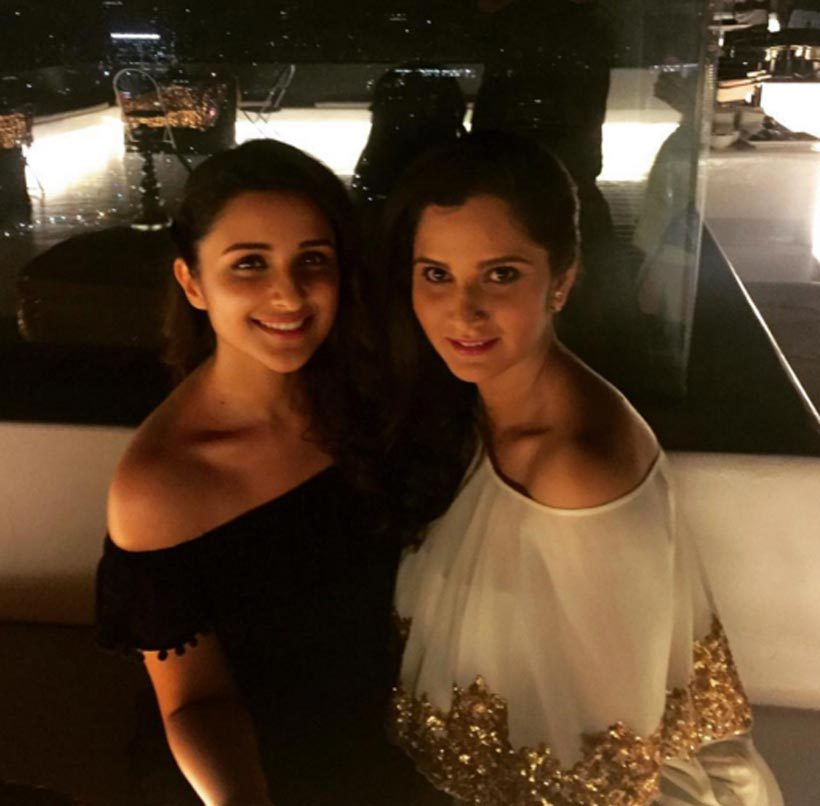 sania mirza holidays in goa actress parineeti chopra  sania parineeti