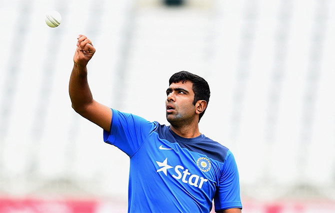 Rediff Sports - Cricket, Indian hockey, Tennis, Football, Chess, Golf - Ashwin breaks Irfan Pathan's record, becomes India's top wicket-taker in T20Is