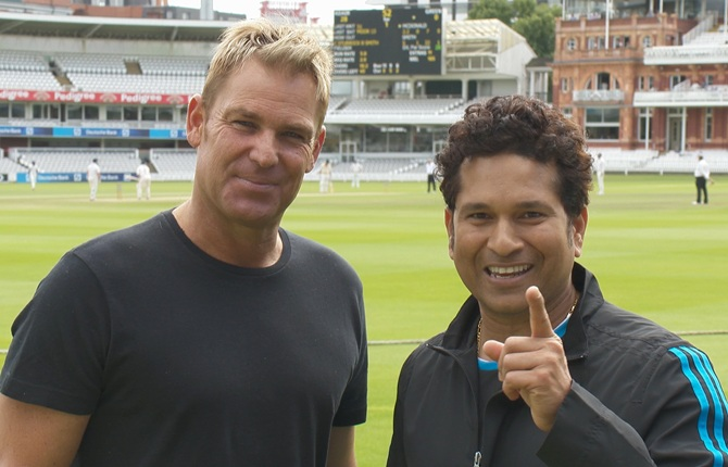 Rediff Sports - Cricket, Indian hockey, Tennis, Football, Chess, Golf - Revealed! Warne's best batsman from each team