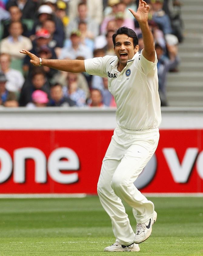 Rediff Sports - Cricket, Indian hockey, Tennis, Football, Chess, Golf - What a glorious career Zaheer Khan had!